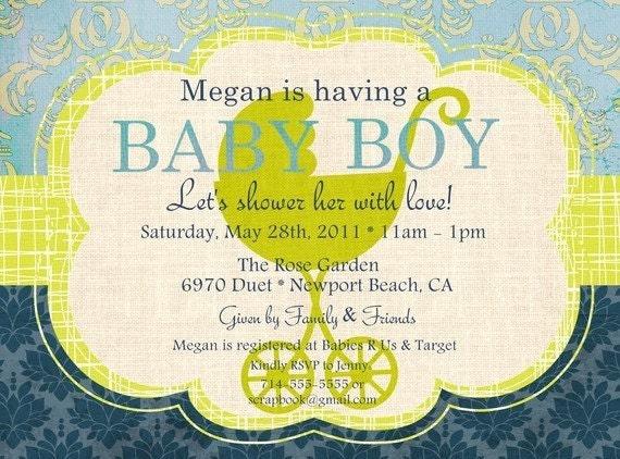 baby boy shower invite