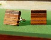Wooden Cufflinks - Ideal 5th Wedding Anniversary Gift