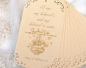 Wedding Tags Song of Solomon Scripture Beloved in Yellow
