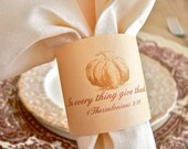 Thanksgiving Napkin Rings Pumpkin and Scripture 1 Thessalonians 5