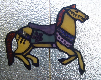 Stained Glass Carousel Figure Illions Jumper 06