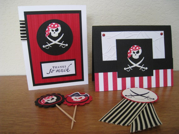 Special Listing for Kristin - Pirate Birthday Party Pack for 12 - Arghhhhh
