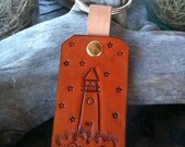 Leather Lighthouse Key Chain - CoastalMaineCreation