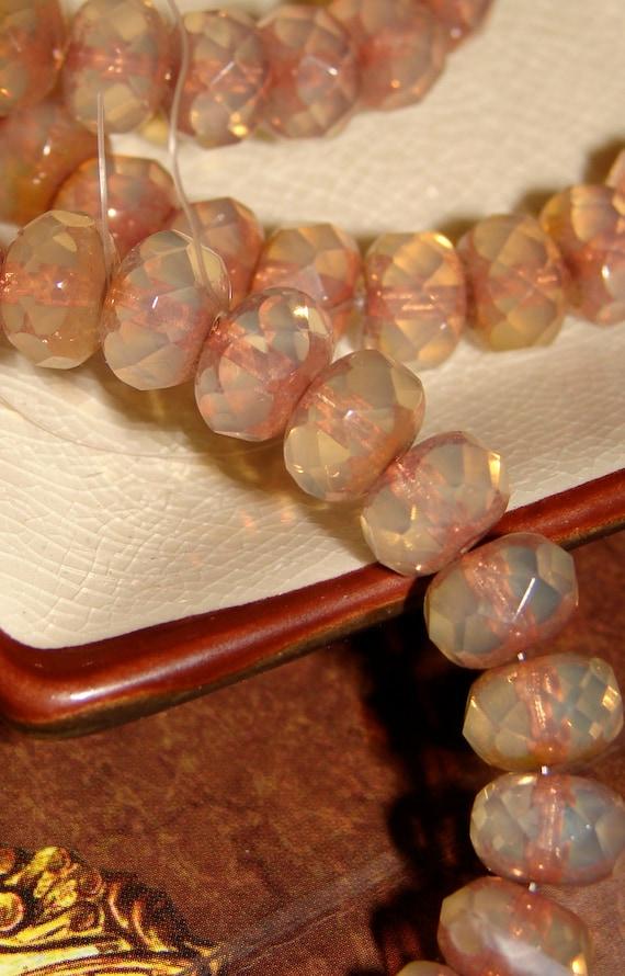 Pale Pink Czech Beads