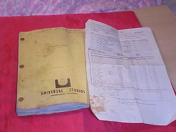Charlton Heston vintage 2 Minute Warning Screenplay & Call Sheet Signed