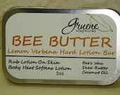 Bee Butter solid lotion bar 2oz  Lemon Verbena