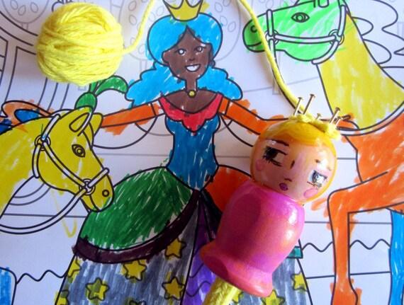 Princess Peona: A Spool Knitter