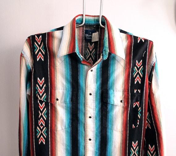 Southwestern Wrangler Western Shirt Mens Extra Large Native American XL