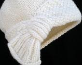 PDF Knit Hat Pattern - Flapper Cloche Hat