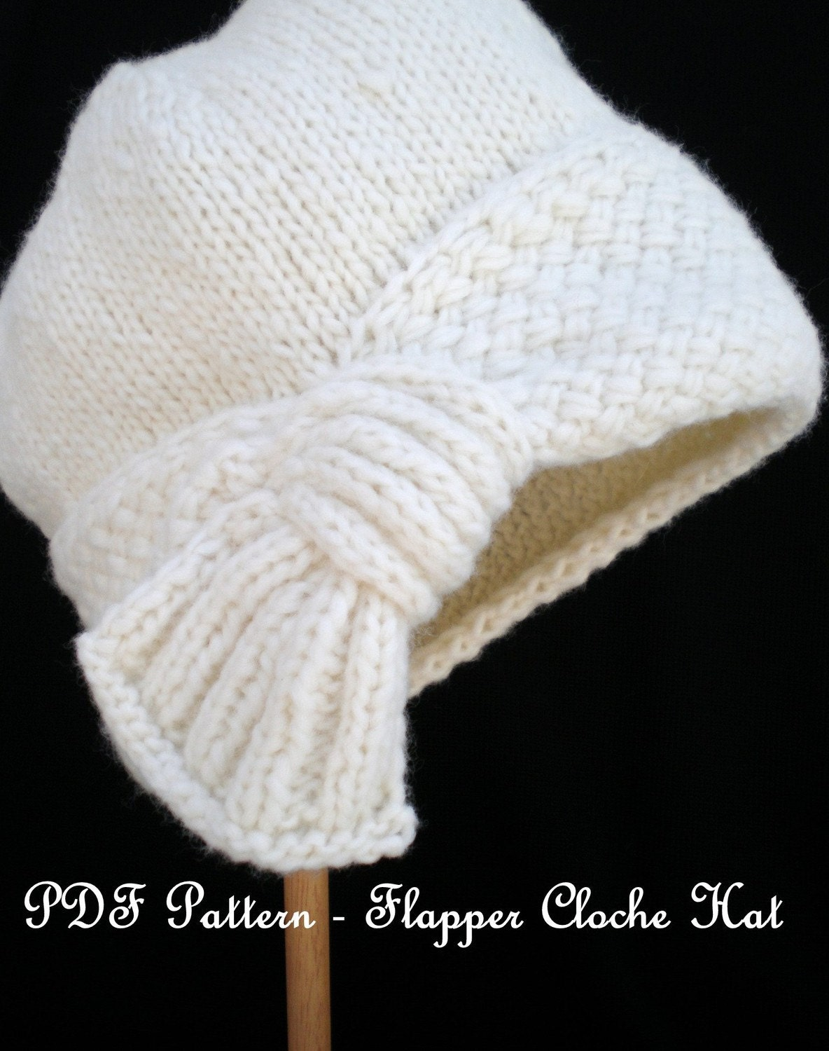 Pdf knit hat pattern flapper cloche hat zoom bankloansurffo Gallery