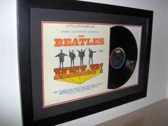 "Beatles "" HELP "" framed"