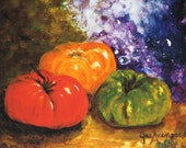 Three Heirloom Tomatoes  Print