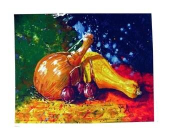 Garden Onions Print