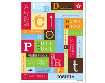 Personalized Alphabet Poster - A to Z Primary
