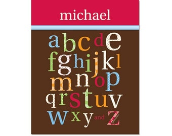 Personalized Patterned Alphabet Poster - ABC's Primary