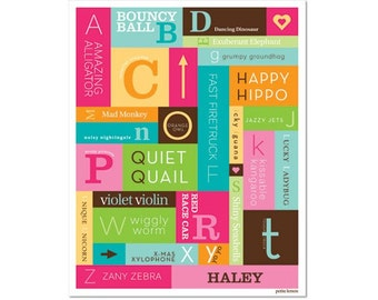 Personalized Alphabet Poster - A to Z Tutti Frutti