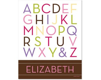 Personalized Alphabet Poster - School Days Chocolate