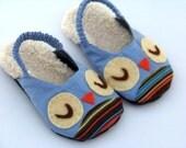 Owls & Chicks Kids Slipper PDF Sewing Pattern.  Children Sewing Pattern. Toddler Girl Boy Sewing Pattern