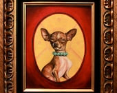 Chihuahua Animal Icon (Original Oil Painting)