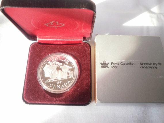 1981 Transcontinential Railroad Commemorative Canada Silver Dollar
