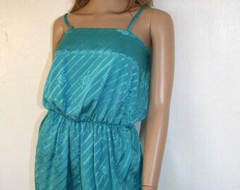 Turquoise Jumpsuit 70s/80s