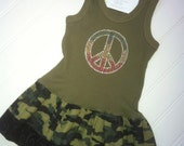 Camo Peace Dress Available 12-18 Months through Size 6/8
