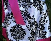 Fuchsia Damask Pillowcase  Dress  Available 0-3 months through Size 5/6