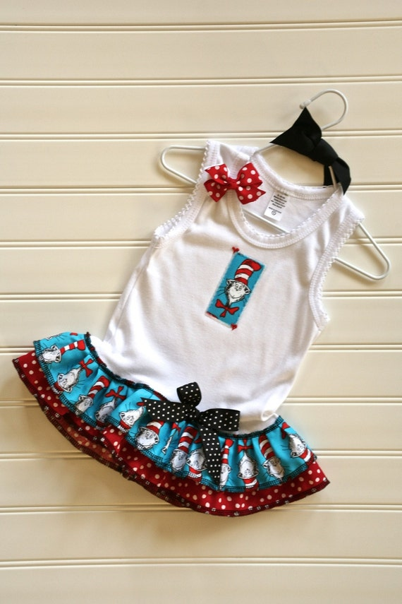Cat Dress Available 0-3 months through Size 6/8