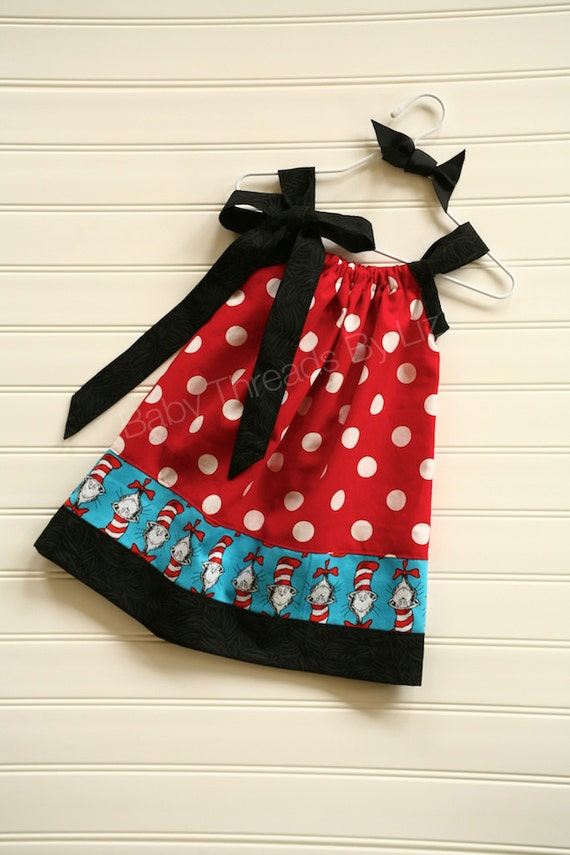 Cat Dress Pillowcase Dress Available 0-3 months through Size 5/6