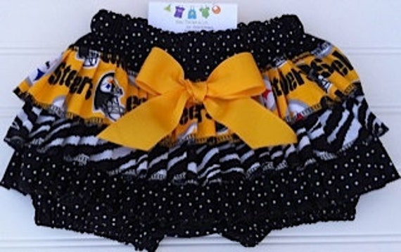 Pittsburgh Steelers Bloomers.  Available 0-3 months through Size 2T