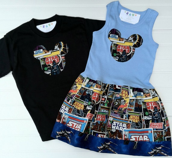 Matching Brother and Sister Star Wars Outfits Available 0-3 months through Size 6/8