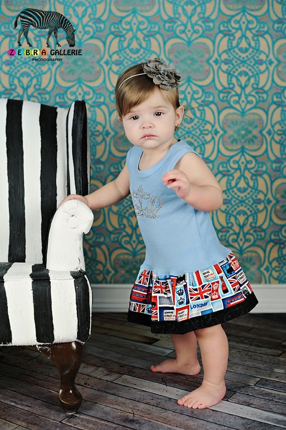 London Princess Dress   Available in   0-3 months through 6/8