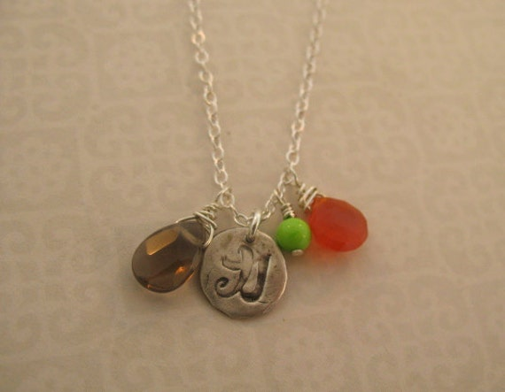 STRENGTH and POWER Chinese symbol charm necklace
