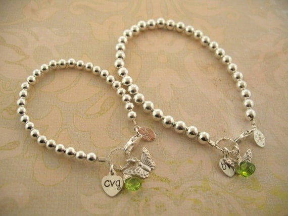 Mother/Daughter Charm bracelets, Mother & Daughter gift, New baby, customized mother/daughter bracelets