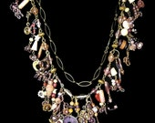 Charm Necklace in Sunset colors