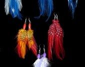 Small Colorful Feather Earrings (sold separately)