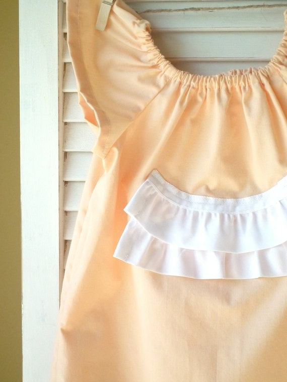 Vintage Peach Pillowcase Dress, Size 2T