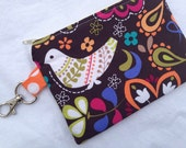 Colorful Bird Small Zippered Pouch
