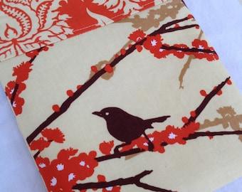 Brown & Orange Aviary 2 Bird eReader or iPad Mini Case