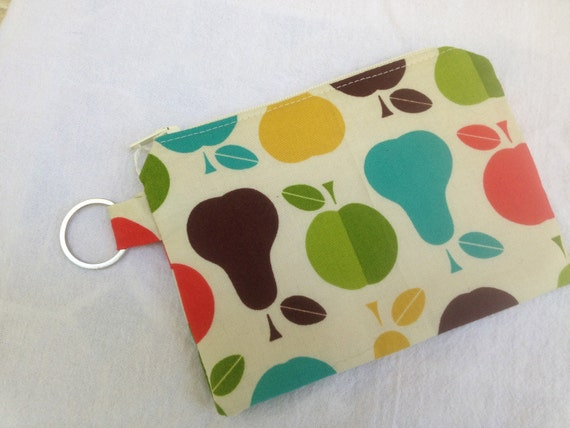 Pears and Apples Small Zippered Pouch