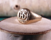 ANTIQUE 10K Gold Class Ring DHS 1917
