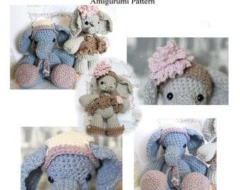 Ellie n  Ethan Amigurumi Elephants