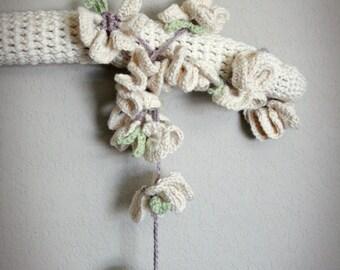 Crochet Pansies Garland