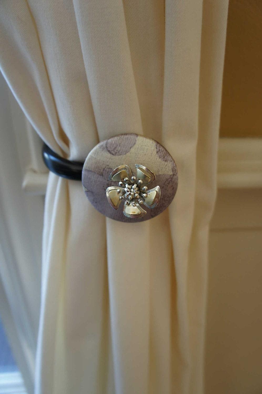 Curtain Tie Backs Tiebacks Drapery Tie Back Metallic Vintage
