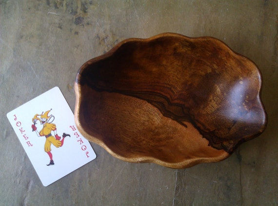 Rustic Wooden Bowl / Snack Bowl