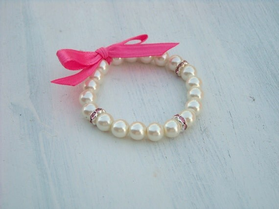 Pearl Bracelet- keepsake, babys first pearls, special occasion, girls, women