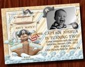 Pirate Birthday Photo Invitation Printable Digital File