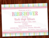 Baby Girl Shower Invitation PRINTABLE Digital File