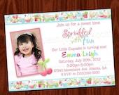Cupcake Birthday Party Invitation PRINTABLE digital file