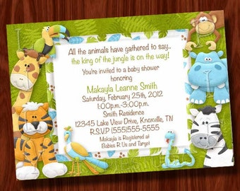 Jungle Baby Shower Invitation (Printable Digital File)